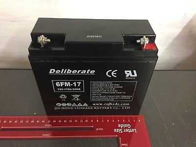 Battery 6FM-17 12V 17AH /20hr (17AH 18AH 19AH 21AH 22AH) Rechargeable 12 volt