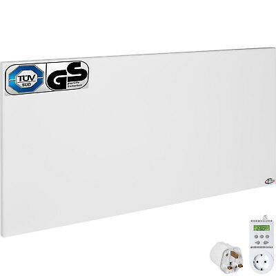 Infrared heater panel wall mounted electric radiant heating 900W + thermostat