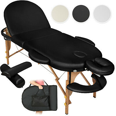 Portable Massage Table Bench Oval 3-Sections Inclusive Bag And 2 Pillows
