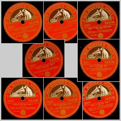 ROYAL PHILH. ORCH. & BEECHAM  Bantock: Fifine at the Fair   4x  78rpm   GS853