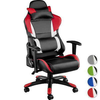 Racing Office Chair Executive Gaming Car Seat With Back Support Faux Leather