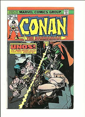 Conan The Barbarian  #51 (Fn) 1975 Marvel Comics