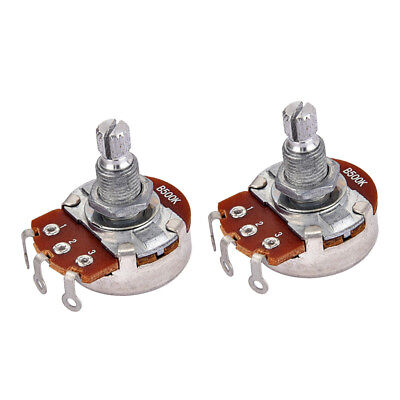 2 Pieces Alpha B500K Potentiometer Pots for Electric Guitar Replacements