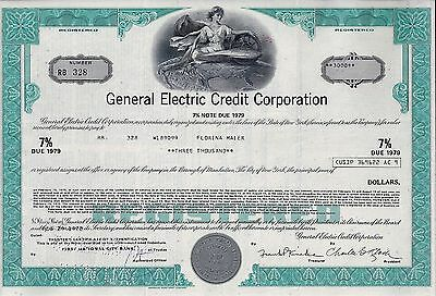 General Electric Credit Corporation, 1972,  7% Note due 1979  (3.000 $)