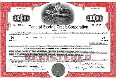 General Electric Credit Corporation, 1972,  7% Note due 1979  (10.000 $)