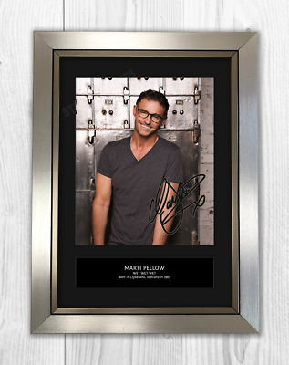 Marti Pellow Wet Wet Wet Signed Photo Print Mounted Quality A4 Reproduction