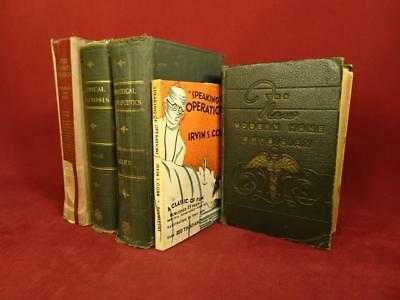 Lot Vintage Antique Illustrated Medical Books Home Physician Decorative Anatomy