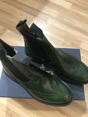 132#  MEN'S DOUBLE WING TIPPED DERBY BROGUE NAVY. Size uk 9  RRP