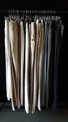 Job Lot Of Approx 30 Ladies Summer Trousers; Mixed Sizes, Styles, Colours Etc