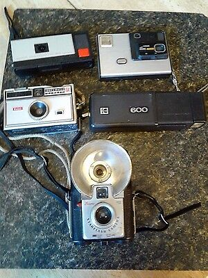 Lot Of 5 Assorted Kodak Cameras For Parts Or Repair-Sold As Is-Some May Work