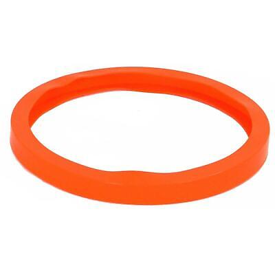 "Best Value Vacs 12.75"" Orange Silicone Reversible Vacuum Chamber Gasket"