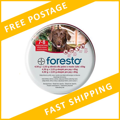 Bayer Seresto/Foresto Flea&Tick Collar For Large Dogs Over 18lbs (8kg)