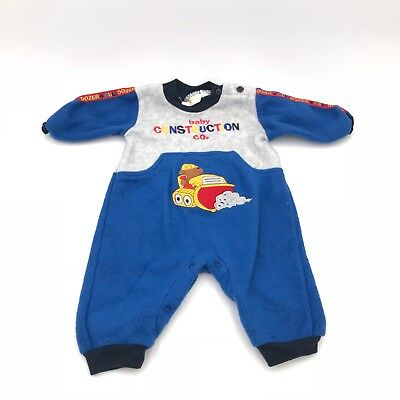 Vintage Baby Construction Co. Clothing Boys 3/6 Month Long Sleeve Romper
