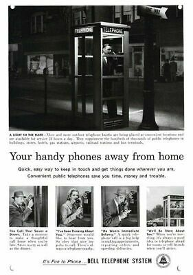 1966 WESTERN ELECTRIC PAY TELEPHONE PHONE BOOTH Vintage Look