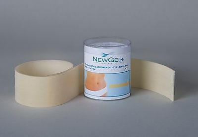 "NEW NewGel 24"" X 2"" ABDOMEN / EXTREMITY SILICONE STRIP For Scars"
