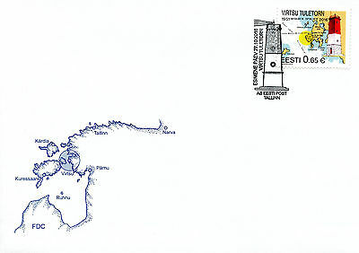Estonia 2016 FDC Virtsu Lighthouse 1v Set Cover Lighthouses Architecture Stamps