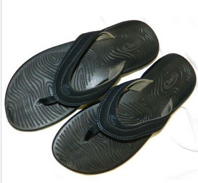 d1befc2c3 CHACO z volv black eco-tread flip-flop thong support sandals women s 9M