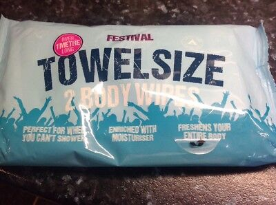 1pack Festival Towel Size Body Wipes