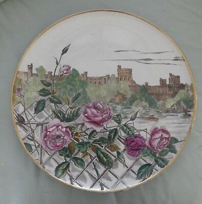 HUGE AESTHETIC MOVEMENT CHARGER PLAQUE, S F & Co. Windsor Fielding Crown Devon