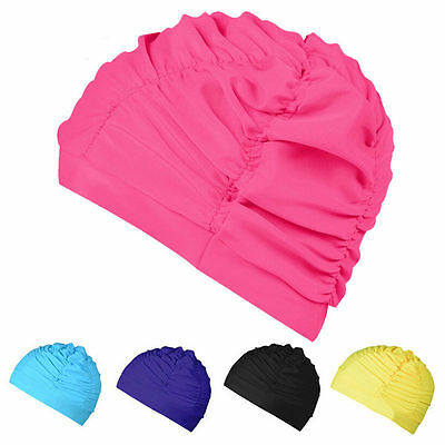 New Soft Drape Elastic Swimming Cap Hat for Dreadlocks Long Hair Summer Pool Sea