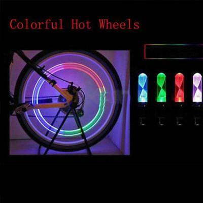 Neon Tire Wheel Glow Stick Motorcycle Bicycle Bike Gas Nozzle Accessories