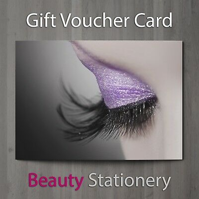 Gift Voucher Beauty Salon Blank Eyelash Extension Lash Lift Card A7 + Envelopes