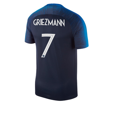 France World Cup 2018 Home Shirt, Griezmann 7, All Sizes