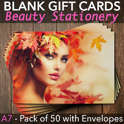 Gift Voucher Card Massage Beauty Nail Salons Hairdressers Spa x50 + Envelopes
