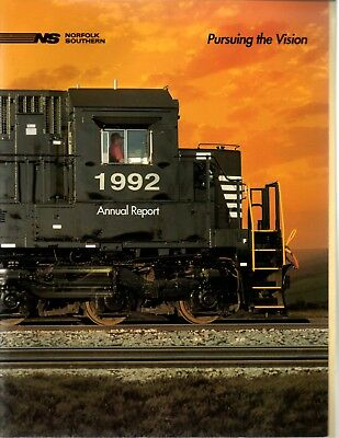 1992 Norfolk Southern Railroad Corporation Annual Report (44 Pages) *R207