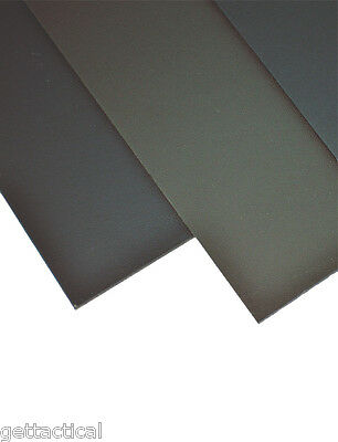 """2 Pk (1 OD Green and 1 Black)-8""""x12""""-Kydex-Sheets-080-Sheath & Holster Material"""