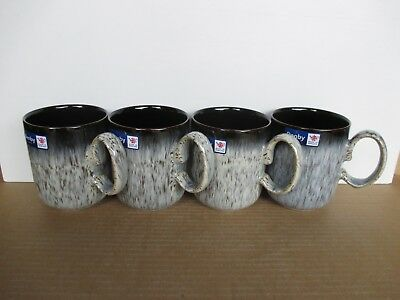 Denby Pottery Halo 4 x Straight Mugs New First Quality Excellent Condition
