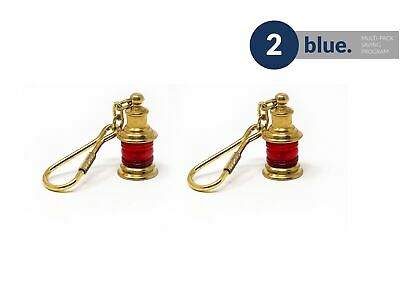 Solid Brass Lamp Keychain, Pair Five Oceans - BC2217-M2