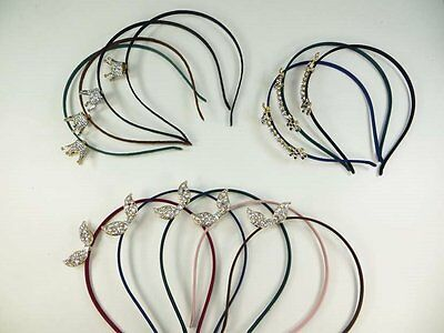 US Seller-12 pcs wholesale lot 3D crystal rhinestone elegant hair band headband