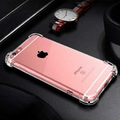 FOR Apple iPhone 7 6 8 X SE PLUS Case Shockproof Silicone Protective Clear Cover