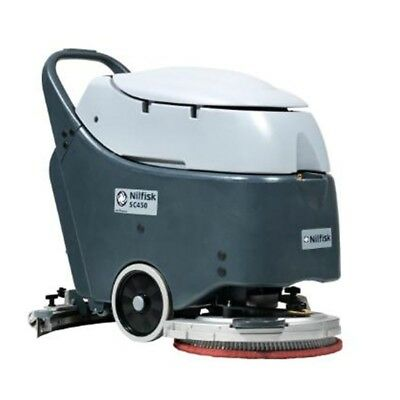 new NILFISK SC450 Battery Powered Walk-behind Scrubber and Dryer