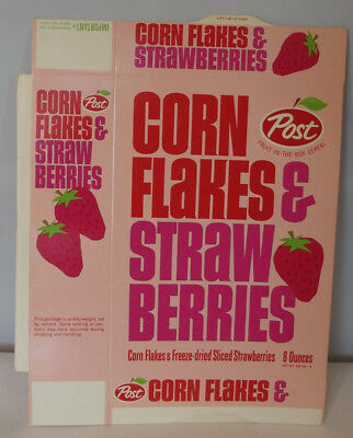 1965 Post Corn Flakes & StarwBerries NM Unused File Copy Box Important Box