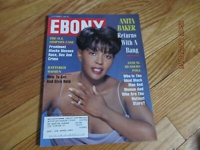 September 1994  Ebony Magazine Johnson Pub- Anita Baker Returns With A Bang