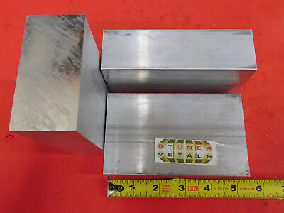 "3 Pieces 1-1/2"" X 3"" ALUMINUM 6061 FLAT BAR 5"" long Solid T6511 New Mill Stock"