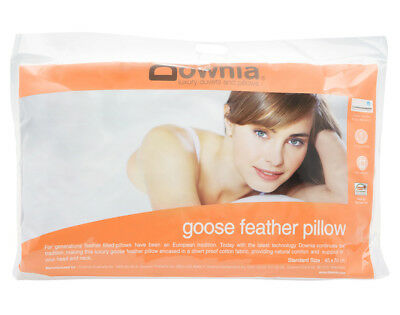 Downia Goose Collection Standard Feather Pillow Cotton Casing NEW
