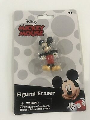 Disney Mickey Mouse Figural Eraser Sealed 1 inch tall