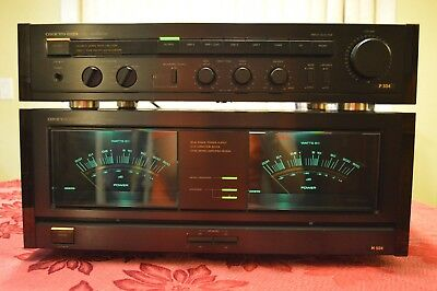 onkyo m 504 amplifier and onkyo p 304 pre amp with manuals near rh picclick com Stereo Systems Onkyo TX Sr304 Specs