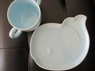 100% Genuine Tiffany & Co. tots whale saucer plate an cup set