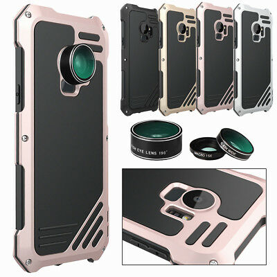 For Samsung Galaxy S9/ Plus Wide Angle Macro Fisheye Camera Lens 3In1 Metal Case