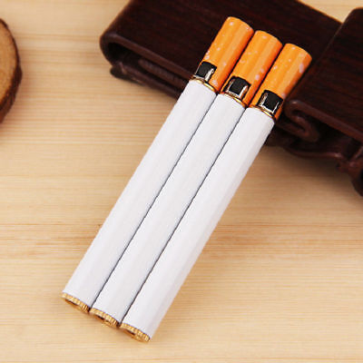 Cigarette Shaped Butane Lighter Refillable Gas Fake Cigar Replica Jet Flame HLJ