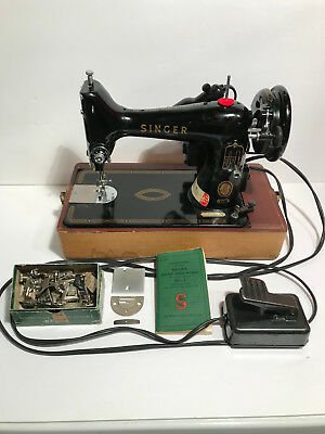 VINTAGE SINGER PORTABLE Sewing Machine 40 Wcase Excellent 4040 Extraordinary Vintage Singer Portable Sewing Machine