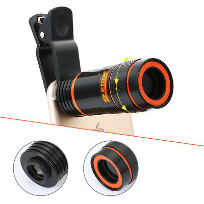 12X 8X Zoom Phone Camera Telephoto Telescope Lens +Clip For iPhone Phone