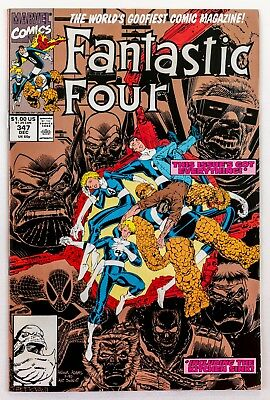 Fantastic Four #347 Gold - 2nd Printing (1990 Marvel) NM