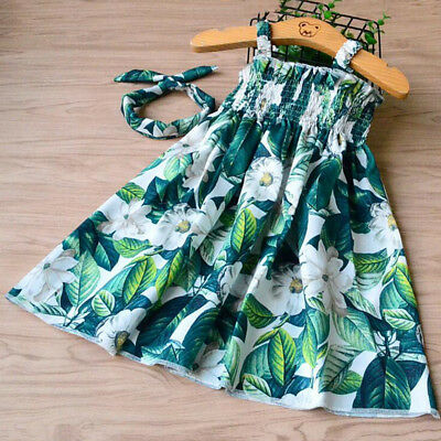 New Summer Floral Toddler Kids Girl Dresses Girls Clothes Dress Size 2-10 Years