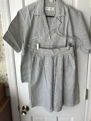 Vintage 80s John Henry Culotte Short Coordinated Set - Small