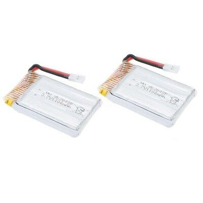 2X 3.7V 1100mAh Upgraded Lipo Battery for Syma X5SC X5SW Quadcopter Drone A1W9